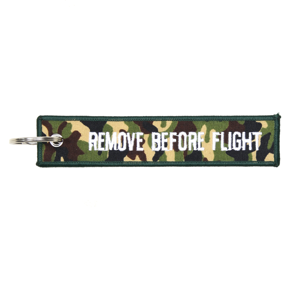 SLEUTELHANGER REMOVE BEFORE FLIGHT CAMO