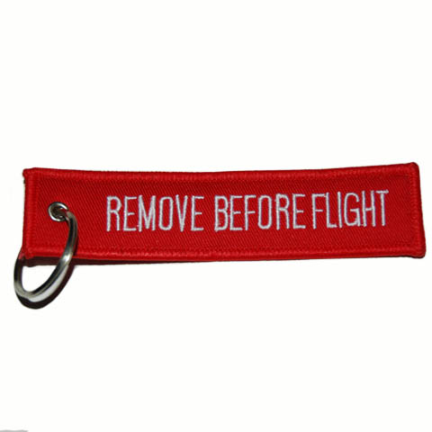 SLEUTELHANGER REMOVE BEFORE FLIGHT (2-ZIJDES)