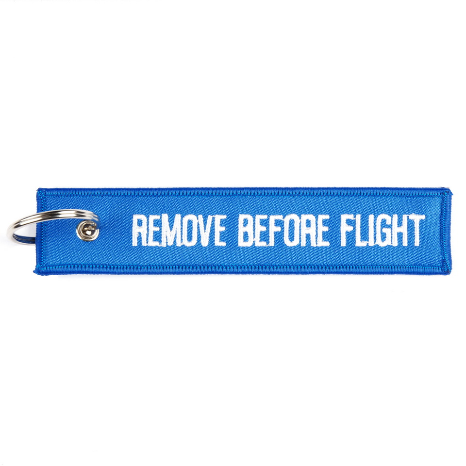 SLEUTELHANGER REMOVE BEFORE FLIGHT BLAUW