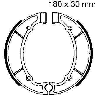 EBC Motorcycle Brake Shoe Sets Y514