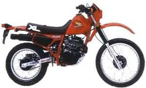 HONDA XL250R(MD11)84-88 SPECS