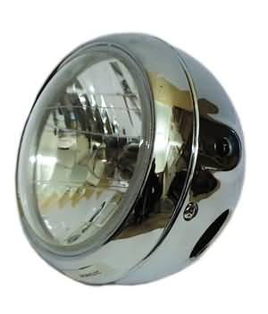 Koplamp model universeel chrome 5""""