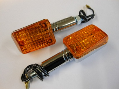 KNIPPERLICHT SET MINI CHROME LANG ORANJE