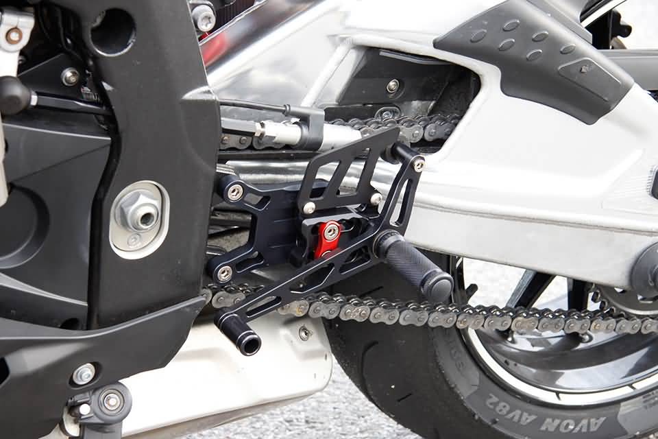 LSL 2-Slide rearset BMW S 1000 RR 09-, black, mounting piece red