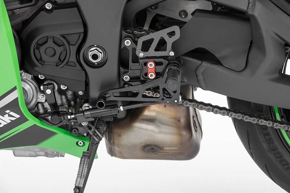 LSL 2-Slide rearset KAWASAKI ZX-10R 16- black, mounting piece re