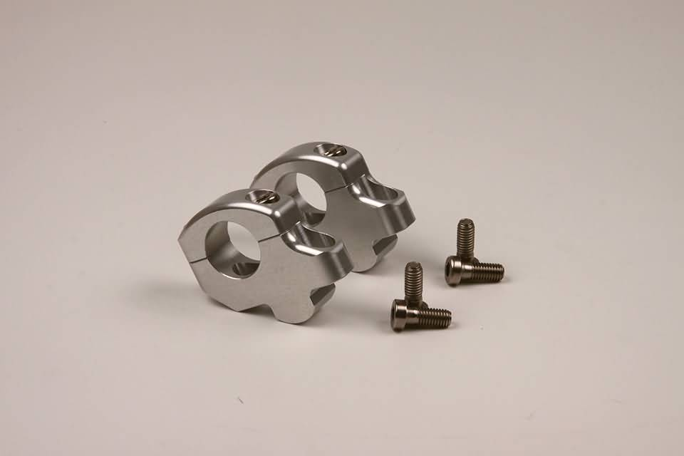 Clamp set Rise-Up 25mm, silver