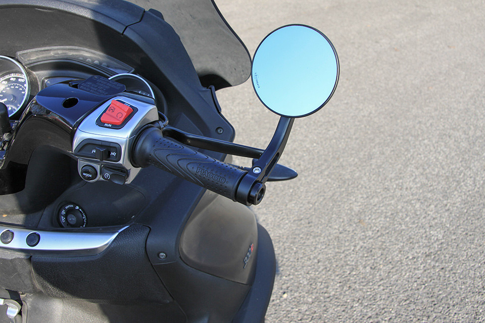 BAR END MIRROR CLUBMAN, ECE, BLACK