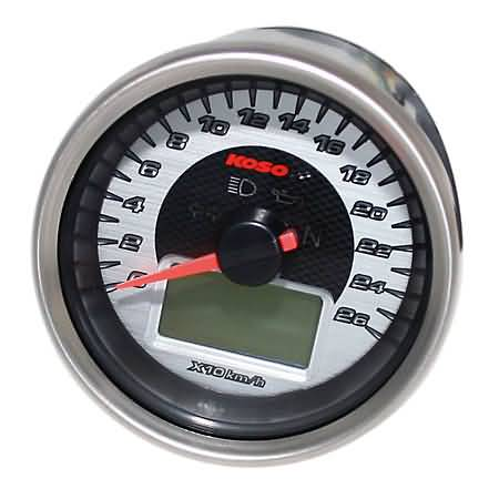 KOSO SPEEDOMETER CHROME
