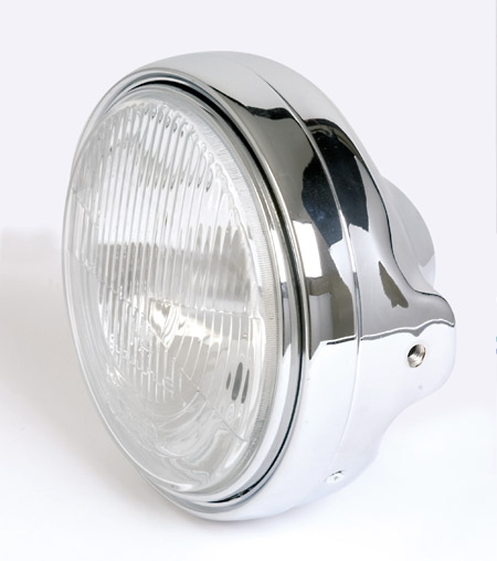 "Koplamp model LTD chrome 7""(E-keur)H4"
