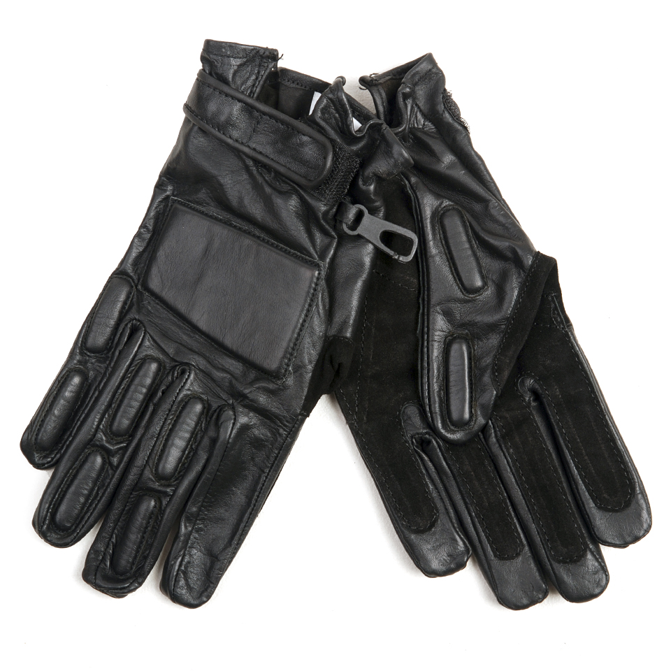 Pr. Leather Gloves with protection