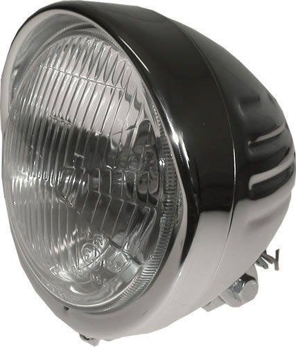 "Koplamp rond Bates 6.5"" Bottom Mount Grooved"