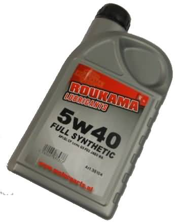MOTOR OIL 5W40SG EULL SYNTHETIC BOTTLE 1 LITER