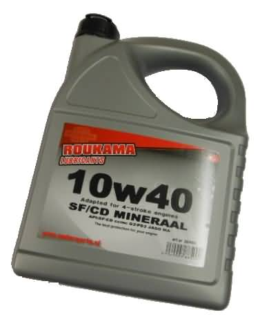 MOTOR OIL 10W40SF MINERAL BOTTLE 5 LITER