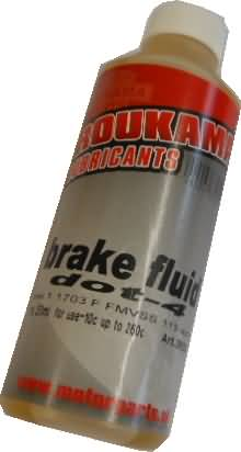 BRAKE FLUID DOT 4 FLES 250ML