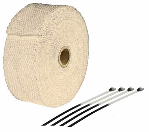 EXHAUST WRAP HEATPROOF CREME 10M