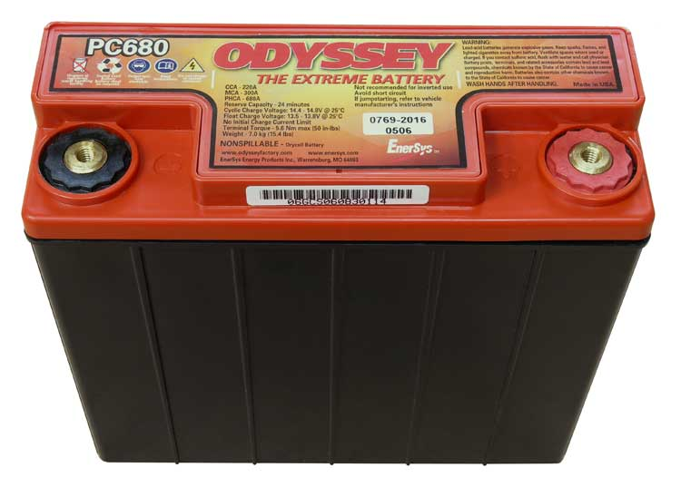 ODYSSEY PC680 12v 16Ah AGM Pure Lead Motorcycle Battery